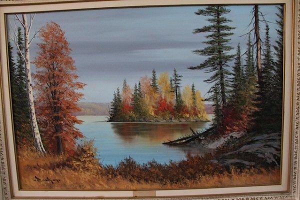 OIL ON BOARD-C. M. BOWMAN, CANADIAN