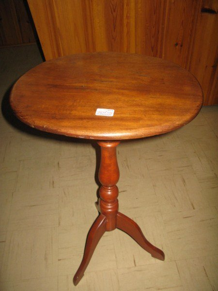 ANTIQUE HAND CARVED SOLID MAHOGANY TILT TOP TABLE