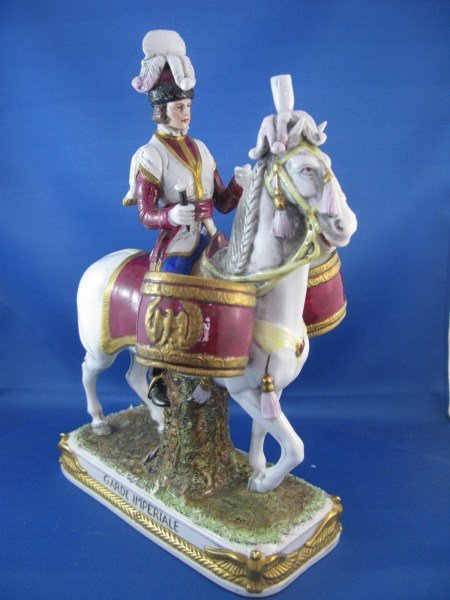 SCHEIBE-ALSBACH PORCELAIN MILITARY FIGURE ON HORSE