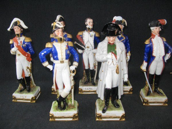 SEVEN SCHEIBE-ALSBACH PORCELAIN MILITARY FIGURINES