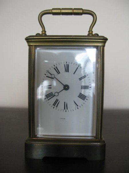 FRENCH CARRIAGE CLOCK WITH KEY