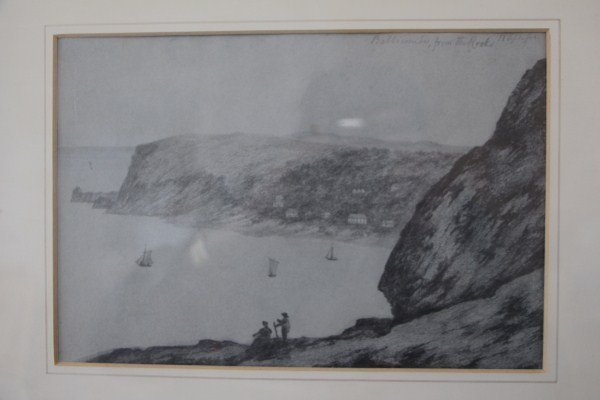 PAIR PENCIL SKETCHES OF SOMERSET 1844 - ANONYMOUS