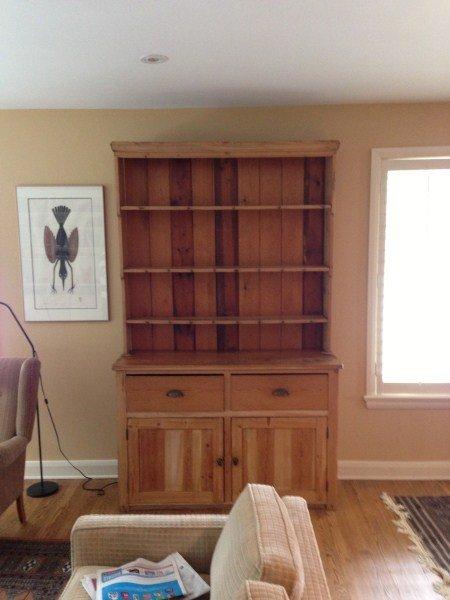 19th Century Scandinavian Pine Kitchen Dresser/Hutch