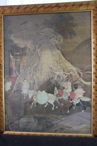18TH CENTURY CHINESE PAINTING ON SILK