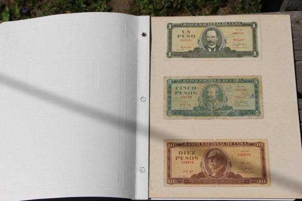 ONE MEXICAN AND FIVE CUBAN BANK NOTES