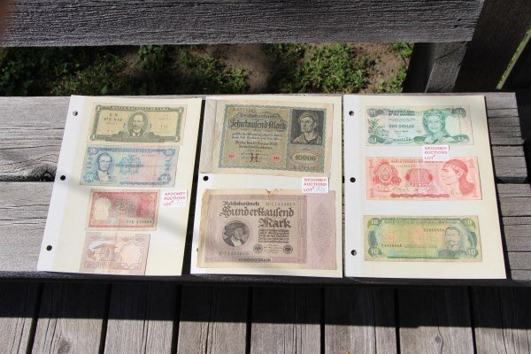 EIGHT ASSORTED BANK NOTES