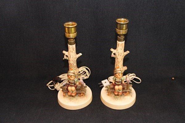 PAIR OF HUMMEL LAMPS WITH ORIGINAL SHADES
