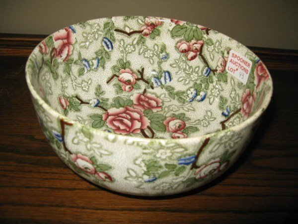 "LEIGHTON 'CHINESE ROSE"" POTTERY BOWL"