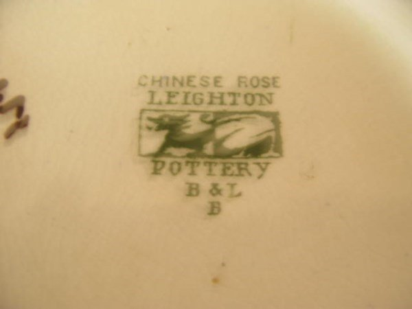 "LEIGHTON 'CHINESE ROSE"" POTTERY BOWL - 2"
