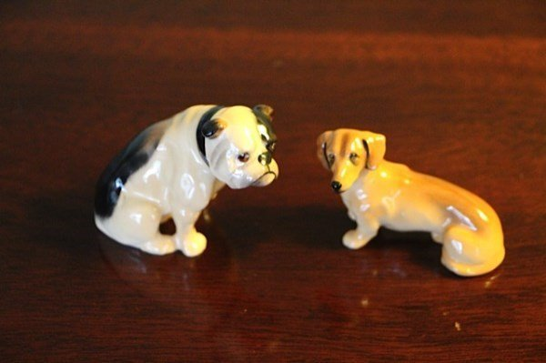 ROYAL DOULTON BULLDOG AND ROYAL DOULTON DACHSHUND