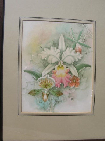 PAIR OF WATERCOLOURS BOTH SIGNED INDISTINCTLY