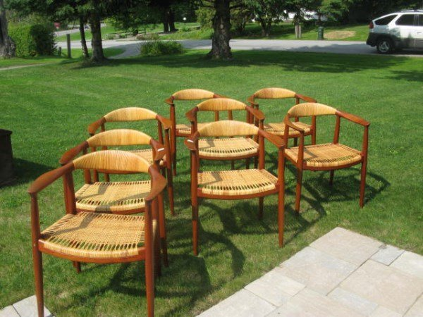 "SET OF EIGHT JOHANNES HANSEN ""THE CHAIR"" MODEL 501"