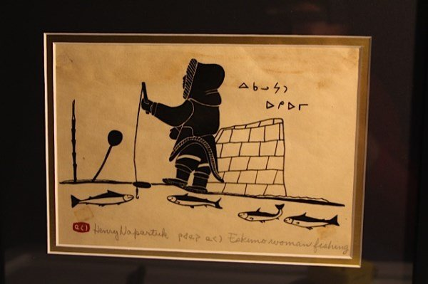 INUIT ART WOODBLOCK - HENRY NAPARTUK