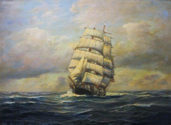 OIL ON CANVAS - JOHANNES HOLST