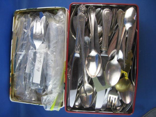 HOTEL AND AIRLINE FLATWARE - MOSTLY STAINLESS