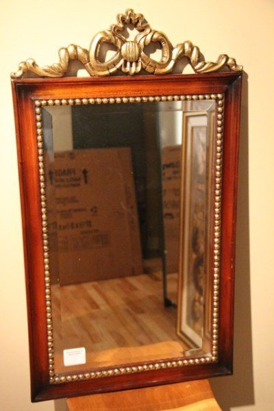 CARVED MAHOGANY MIRROR