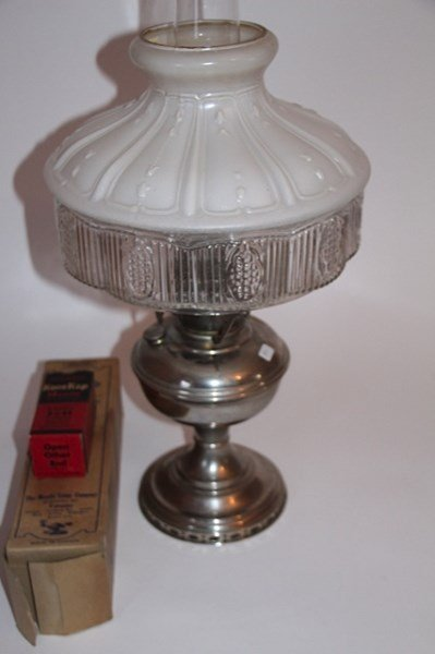ALADDIN MODEL 12 NICKEL LAMP