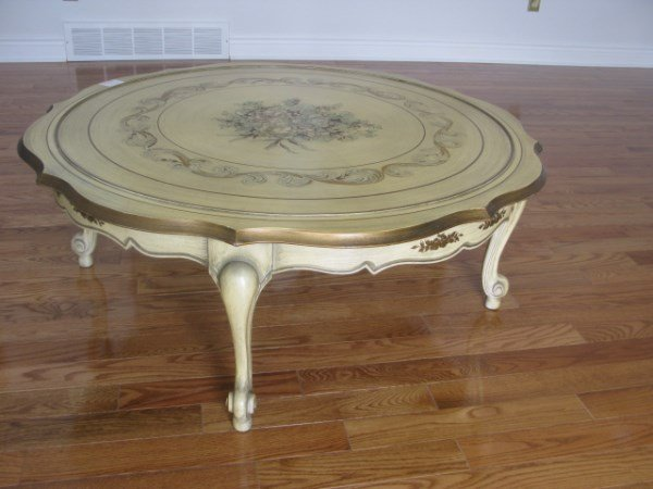 PAINTED SIGNED COFFEE TABLE KATHERINE HENICK