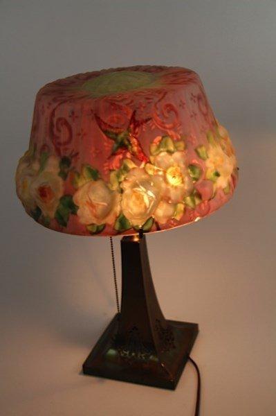 ORIGINAL HUMMINGBIRD AND ROSES PAIRPOINT LAMP