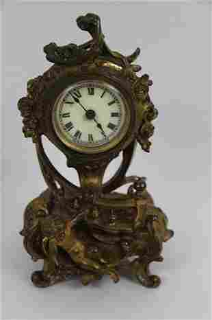 BRONZE VICTORIAN ANSONIA DRESSER CLOCK