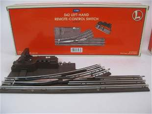 TWO LIONEL TRAINS 042 REMOTE CONTROL SWITCHES