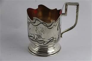 1904 875 SILVER TEA GLASS HOLDER- IVAN ZAKHAROV