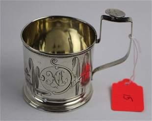 1906 RUSSIAN 875 SILVER TEA GLASS HOLDER