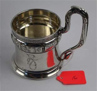 1908- 875 SILVER TEA GLASS HOLDER- PYOTR ABROSIMOV