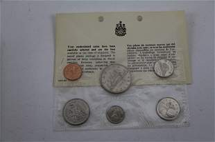 FIVE 1969 CANADIAN UNCIRCULATED COIN SETS