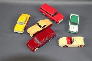 SIX DINKY CARS
