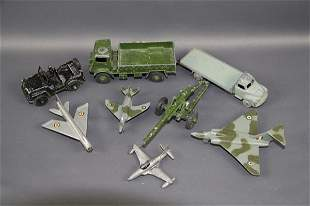 EIGHT DINKY MILITARY PIECES
