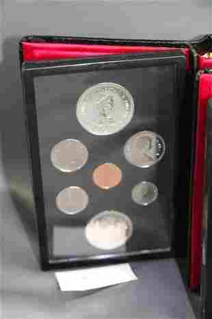 TWO SETS OF 1977 CANADIAN DOUBLE STRUCK COINS