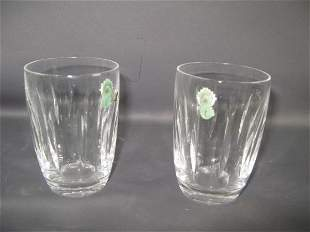 SET OF EIGHT WATERFORD WATER TUMBLERS