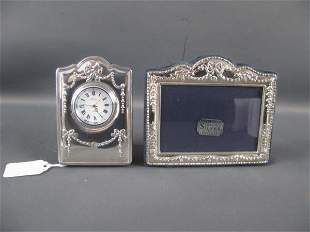 STERLING FRAME AND CLOCK