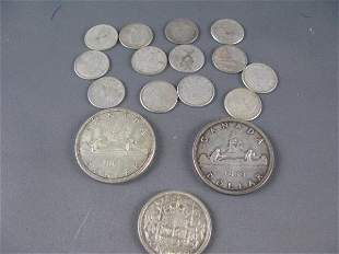 CANADIAN 1959 &1962 SILVER DOLLARS