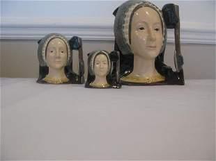 THREE ROYAL DOULTON ANNE BOLEYN CHARACTER JUGS