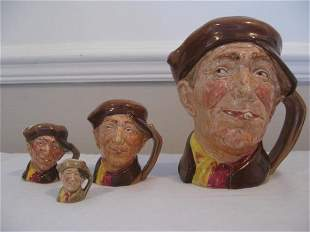 FOUR ROYAL DOULTON 'ARRY CHARACTER JUGS
