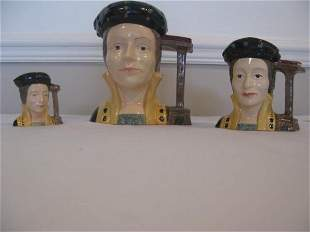 THREE ROYAL DOULTON CATHERINE PARR CHARACTER JUGS