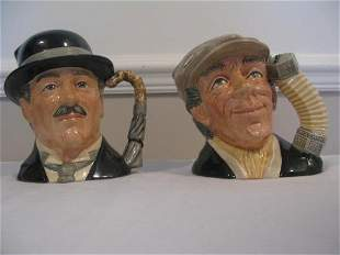 TWO DOULTON BUSKER & CITY GENT CHARACTER JUGS