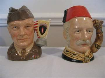 TWO ROYAL DOULTON GREAT GENERALS CHARACTER JUGS