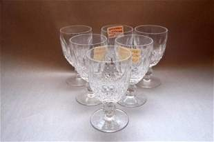 SIX WATERFORD CLARET WINE - COLLEEN PATTERN