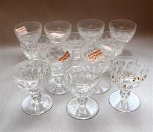 TWELVE WATERFORD COCKTAIL GLASSES-COLLEEN PATTERN