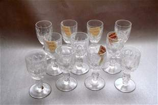 ELEVEN WATERFORD LIQUEUR GLASSES- COLLEEN PATTERN