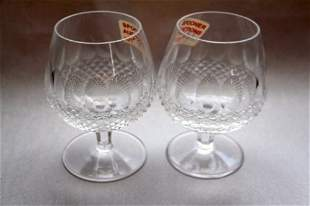 TWO WATERFORD BRANDY GLASSES- COLLEEN PATTERN