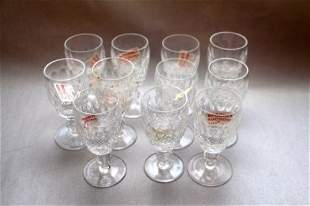 ELEVEN WATERFORD SHERRY GLASSES- COLLEEN PATTERN