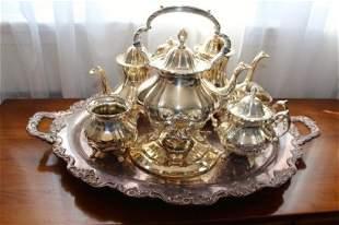 LARGE SIX PIECE LANCASTER ROSE TEA SET BY POOLE