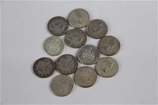 TWELVE CANADIAN HALF DOLLARS 1940-1966