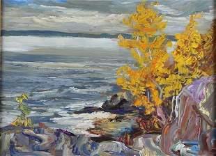 M. NEWTON - OIL ON CANVAS