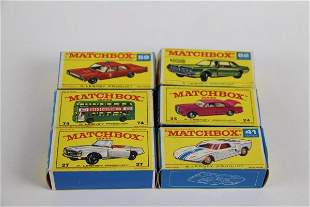 SIX MATCHBOX TOYS WITH BOXES