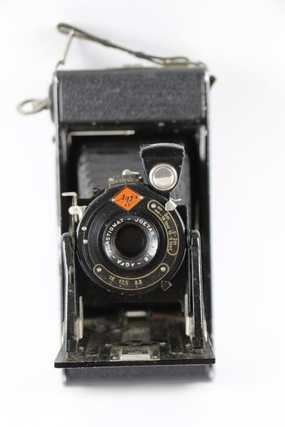 AGFA FOLDING CAMERA WITH CANVAS CASE